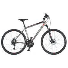 """Велосипед AUTHOR (2020) Vertigo 29"""", рама 18"""", цвет-серебристый (красный) // чёрный"""