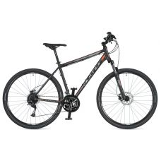 """Велосипед AUTHOR (2020) Vertigo 29"""", рама 20"""", цвет-чёрный (неоново оранжевый) // чёрный"""