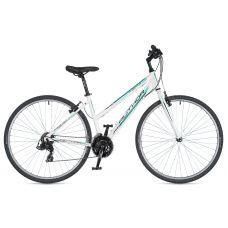 "Велосипед AUTHOR (2020) Thema 28"", рама 17"", цвет-белый (зелёный) // белый"
