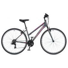 """Велосипед AUTHOR (2020) Thema 28"""", рама 17"""", цвет-серый (розовый) // серый"""