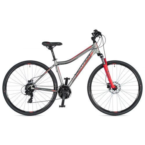 """Велосипед AUTHOR (2020) Horizon ASL 29"""", рама 15"""", цвет-серебристо // красный"""