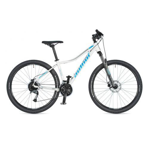 """Велосипед AUTHOR (2020) Pegas ASL 27.5"""", рама 14"""", цвет- белый (голубой) // серый"""