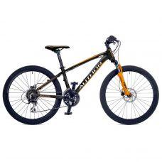 """Велосипед AUTHOR (2018) Mirage 24"""", рама 12,5"""", цвет-чёрный (неоново оранжевый)// неоново оранжевый"""