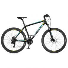 """Велосипед AUTHOR (2018) Rival 27.5"""", рама 19"""", цвет-чёрный (зелёно желтый) // чёрный"""