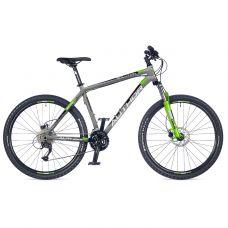 """Велосипед AUTHOR (2018) Solution 27.5"""", рама 19"""", цвет-серебристый (черный-зелёный) // зелёный"""