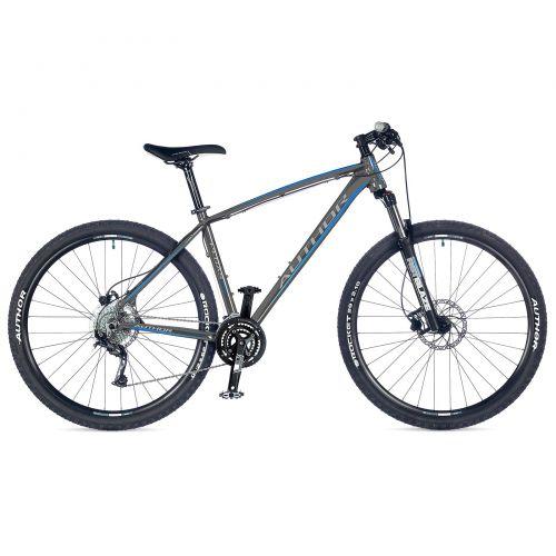 """Велосипед AUTHOR (2018) Pegas 29"""", рама 21"""", цвет-серый (синий) // чёрный"""