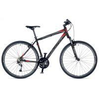 """Велосипед AUTHOR (2018) Stratos 28"""", цвет-черный (красный) // черный, рама 20"""""""