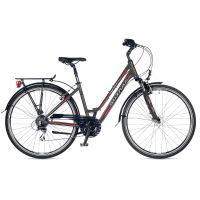 """Велосипед AUTHOR (2018) Dynasty 28"""", цвет-серый (красный) // серый, рама 17"""""""