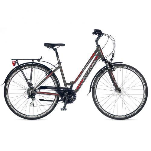 """Велосипед AUTHOR (2018) Dynasty 28"""", цвет-серый (красный) // серый, рама 19"""""""