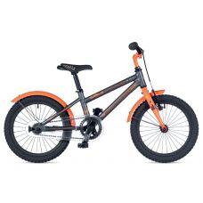 """Велосипед AUTHOR (2019) Stylo 16"""" II, рама 9"""", цвет-серый // неоново оранжевый"""
