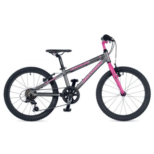 "Велосипед AUTHOR (2019) Cosmic 20"", рама 10"", цвет-серый // розовый"