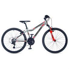 """Велосипед AUTHOR (2019) A-Matrix 24"""", рама 12,5"""", цвет-серебристый (красный) // красный"""