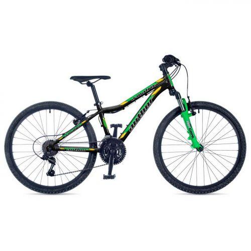 """Велосипед AUTHOR (2019) A-Matrix 24"""", рама 12,5"""", цвет-чёрный // неоново зеленый (с царапинами)"""