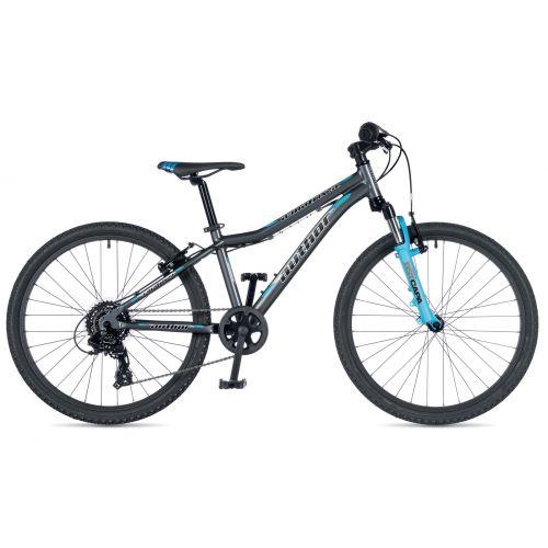 """Велосипед AUTHOR (2019) A-Matrix SL 24"""", рама 12,5"""", колір-графітовий (блакитний) // блакитний"""
