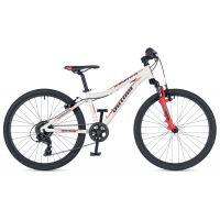 """Велосипед AUTHOR (2019) A-Matrix SL 24"""", рама 12,5"""", цвет-белый (красный) // красный"""