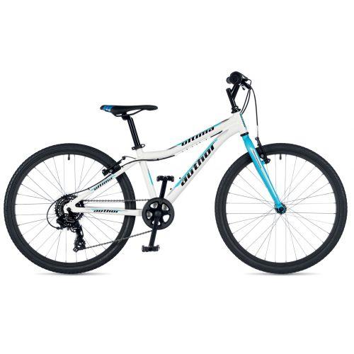 """Велосипед AUTHOR (2019) Ultima 24"""", рама 12,5"""", колір-білий (блакитний) // блакитний"""
