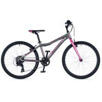 """Велосипед AUTHOR (2019) Ultima 24"""", рама 12,5"""", цвет-серый (розовый) // розовый"""