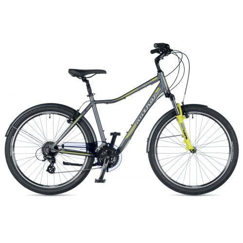 """Акция! Велосипед AUTHOR (2019) Rapid 26"""", рама 19"""", цвет-графитовый (желто-зеленый) // желто-зеленый"""