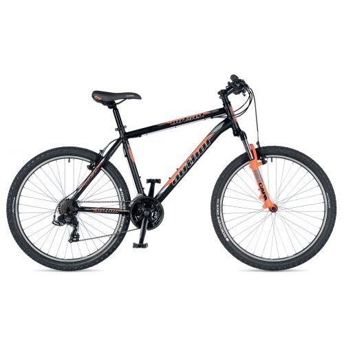 """Велосипед AUTHOR (2019) Outset 26"""", рама 17"""", цвет-чёрный (неоново оранжевый) // неоново оранжевый"""