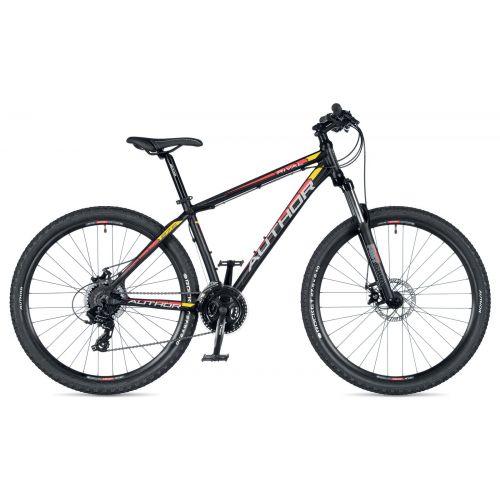 """Велосипед AUTHOR (2019) Rival 27.5"""", рама 17"""", цвет-чёрный (красно/желтый) // чёрный"""
