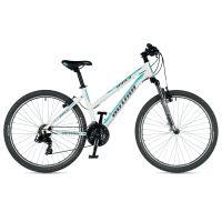 """Велосипед AUTHOR (2019) Unica 26"""", рама 16"""", цвет-белый (ментолово зелёный) // серебристый"""