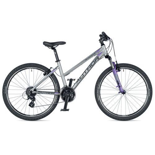 """Велосипед AUTHOR (2019) Quanta 26"""", рама 16"""", цвет-серебристый (фиолетовый) // фиолетовый"""