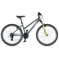"""Велосипед AUTHOR (2019) Quanta 26"""", рама 18"""", цвет-графитовый (желто-салатовый) // желто-салатовый"""