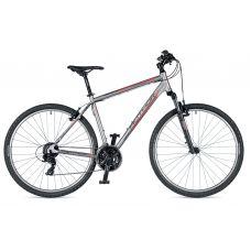 """Велосипед AUTHOR (2019) Horizon 29"""", рама 18"""", цвет-серебристый (красный) // черный"""