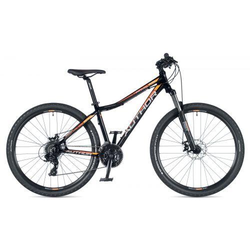 """Велосипед AUTHOR (2019) Rival ASL 27.5"""",  рама 14"""", цвет-черный (оранжевый) // черный"""