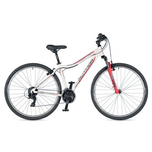 """Велосипед AUTHOR (2019) Horizon ASL 29"""", рама 17"""", цвет-белый (красный) // красный"""