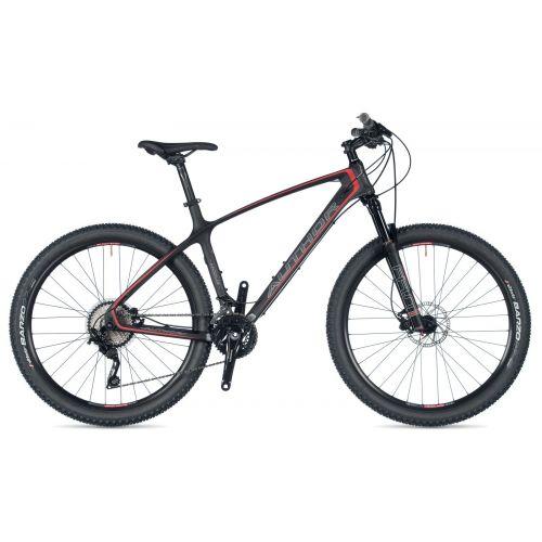 """Велосипед AUTHOR (2019) Modus 27.5"""", рама 19"""", цвет-карбон/серый/красный//черный"""