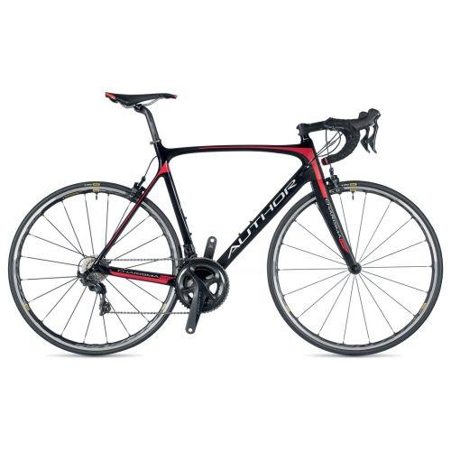 Велосипед AUTHOR (2019) Charisma 66, рама 56 см, цвет-карбон // красный